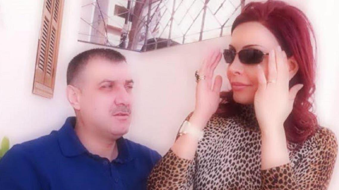 فاطمة مسعود الأسد مع زوجها القتيل هلال الأسد