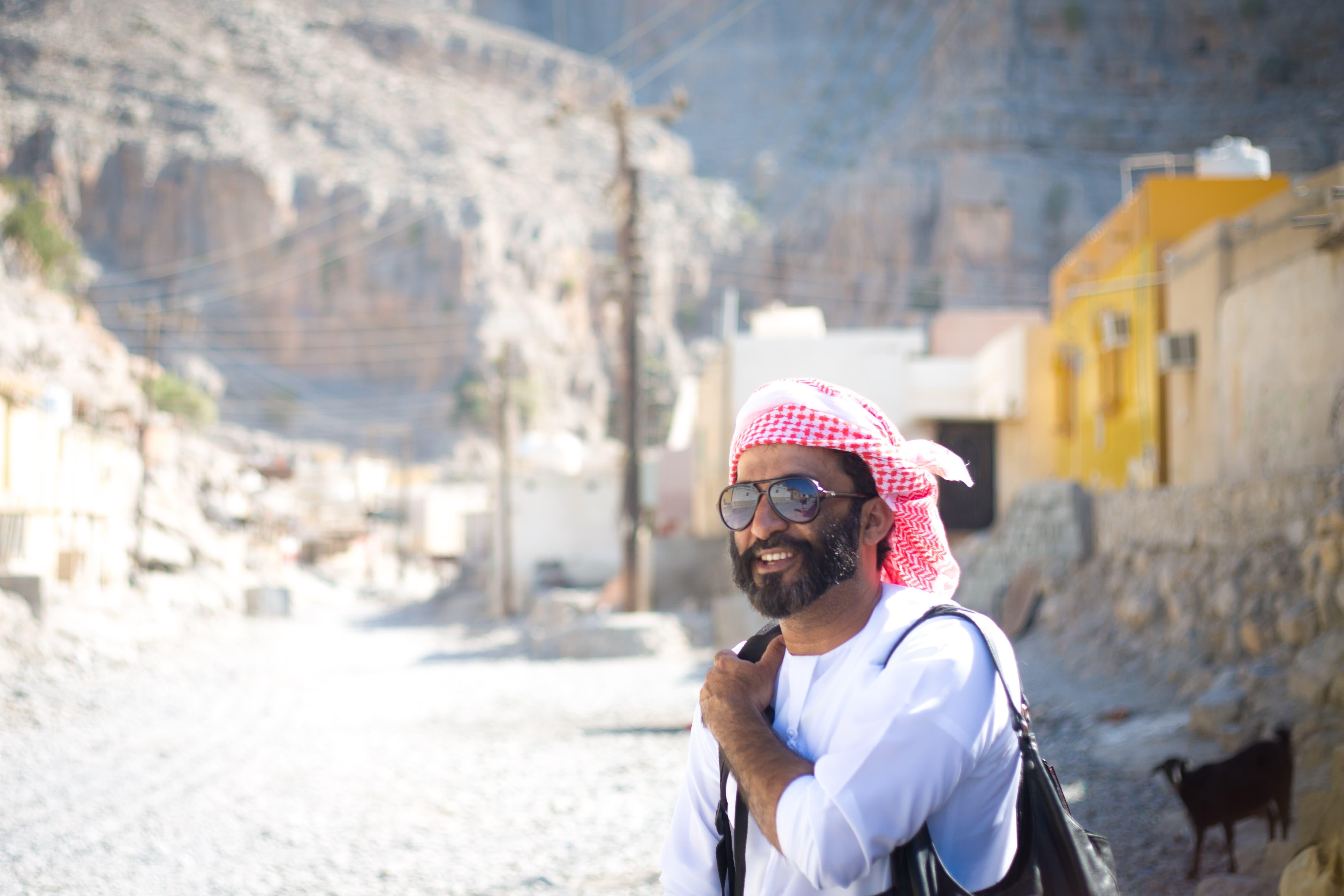 Ali Al Kumzari in Kumzar. (Amanda Fisher/Al Arabiya News)