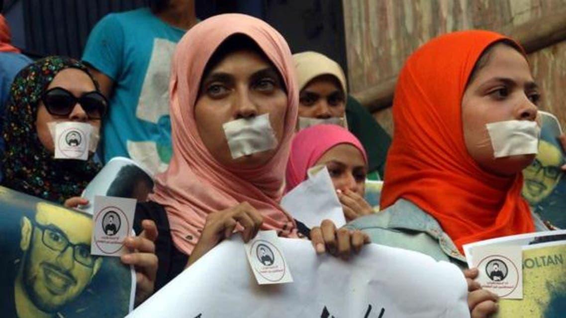 Protest Egypt media - Reuters