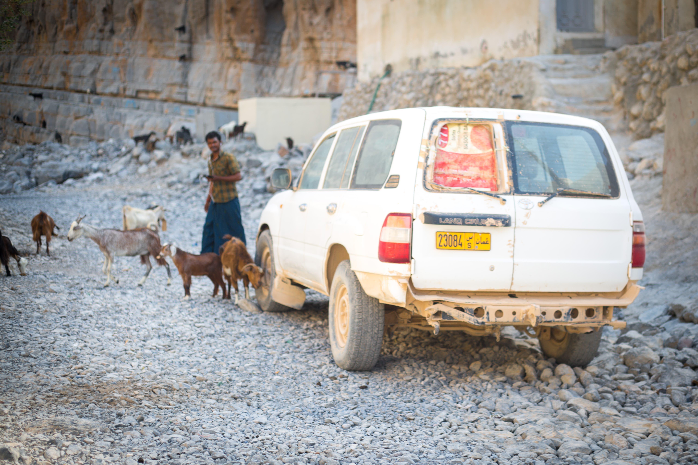 One of Kumzar's few vehicles. (Amanda Fisher/Al Arabiya News)