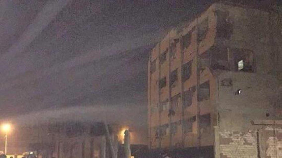 صورة لمبنى الأمن الوطني عقب استهدافه بتفجير في شبرا في مصر