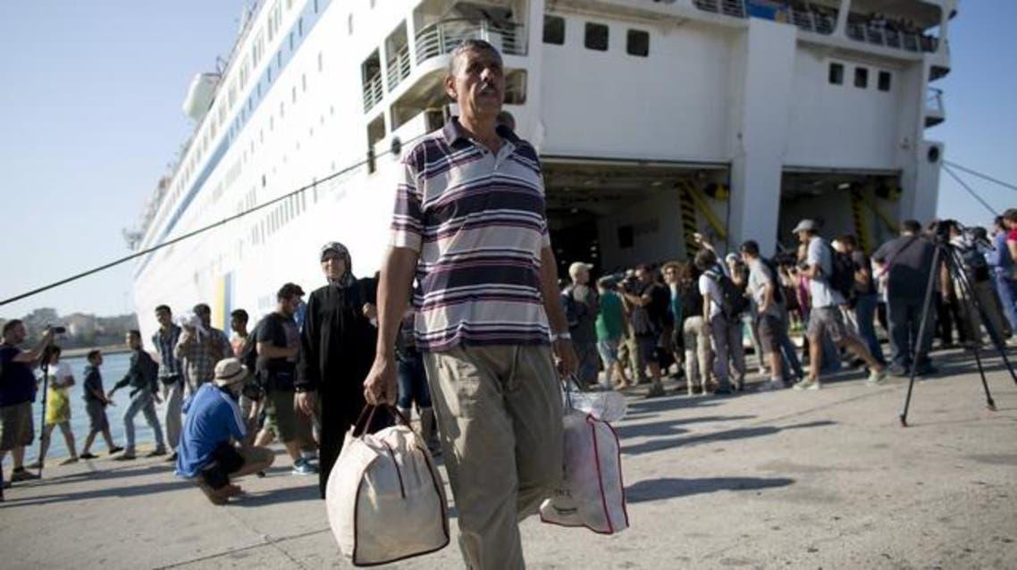 لاجئون سوريون اليونان