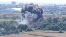 UK airshow crash caught on video