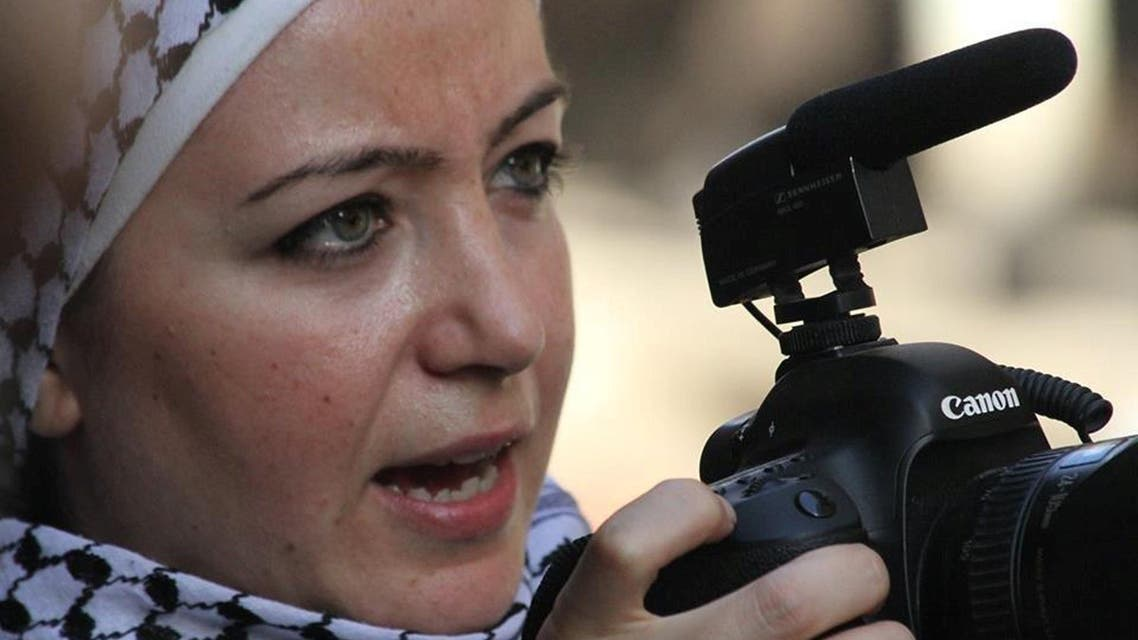 Zaina Erhaim. Erhaim, a Syrian-based journalist who has trained citizen reporters in the war-ravaged country has been named the recipient of the Peter Mackler Award. (File: AFP)
