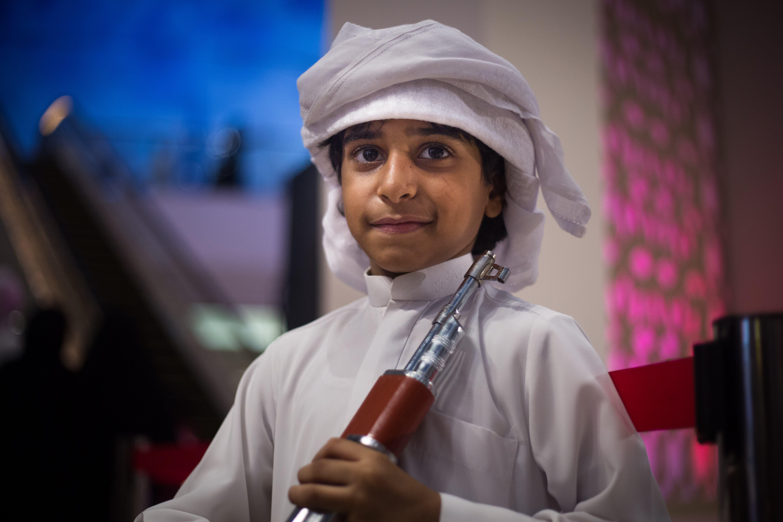 Buti Al Ketbi, 7, is taking part in his second yola championships. (Amanda Fisher/Al Arabiya News)