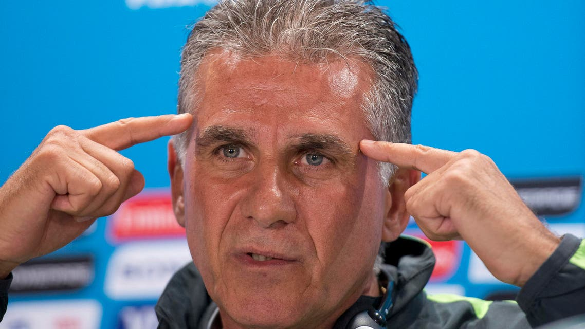 Iran head coach Carlos Queiroz listens to a question during a press conference at the Mineirao Stadium in Belo Horizonte, Brazil, Friday, June 20, 2014. AP