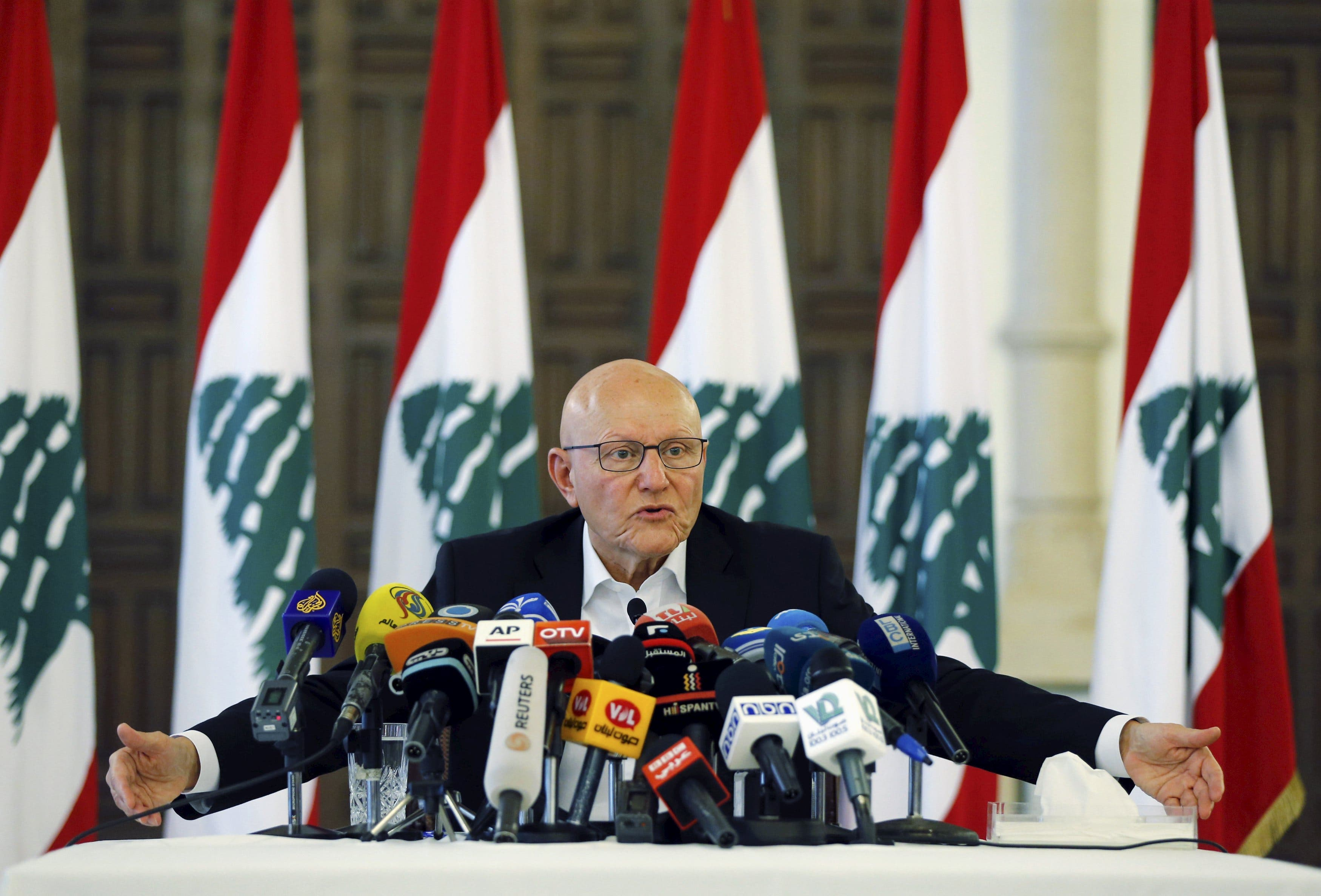 Lebanon's Prime Minister Tammam Salam speaks during a news conference at the government palace in Beirut, Lebanon, August 23, 2015. (Reuters)
