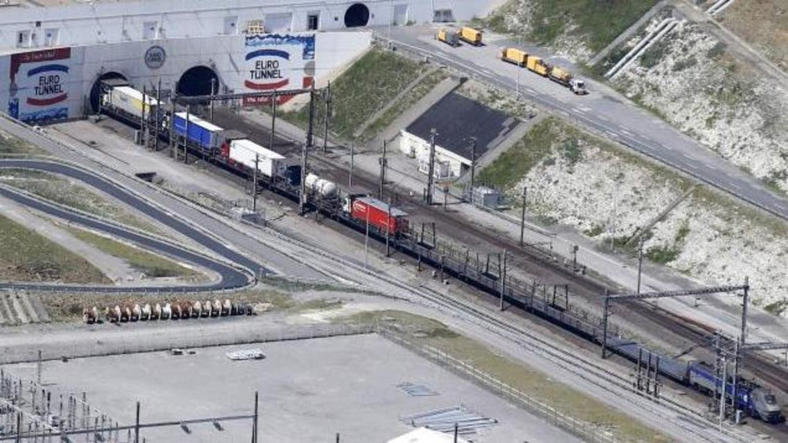 An Eurotunnel freight shuttle enters the Channel tunnel in Coquelles, near Calais, northern France. (File photo: Reuters)
