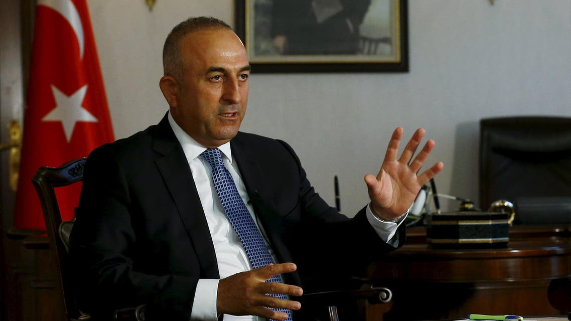 Turkey's Foreign Minister Mevlut Cavusoglu answers a question during an interview with Reuters in Ankara, Turkey, August 24, 2015. (Reuters)