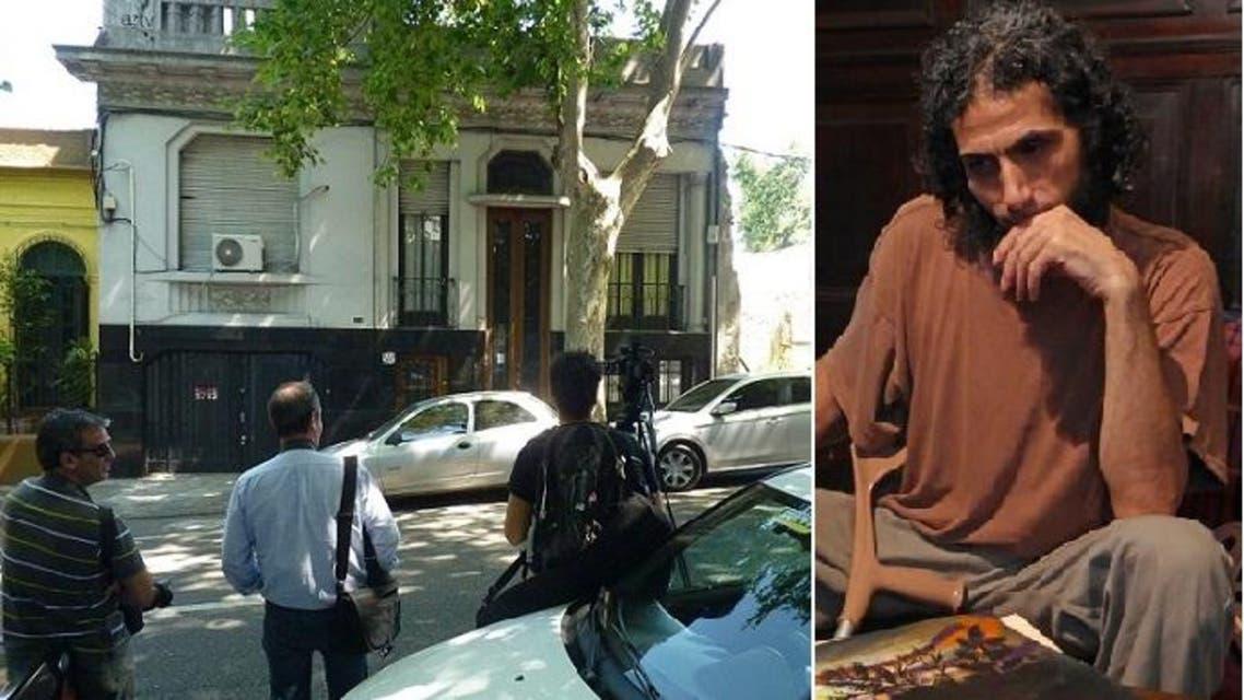 جهاد دياب، والصحافيون أمام البيت يتابعون عناده بعدم المغادرة، طالما لا يقبلون بشروطه