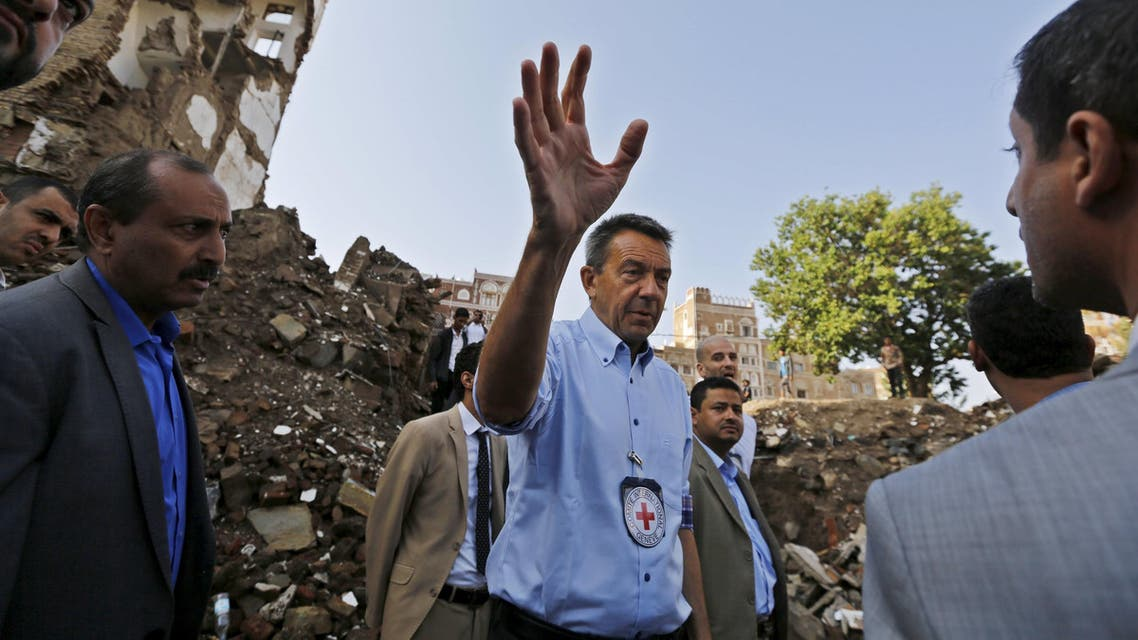 Maurer, president of the International Committee of the Red Cross, in Yemen, August, 2015. (File photo: Reuters)