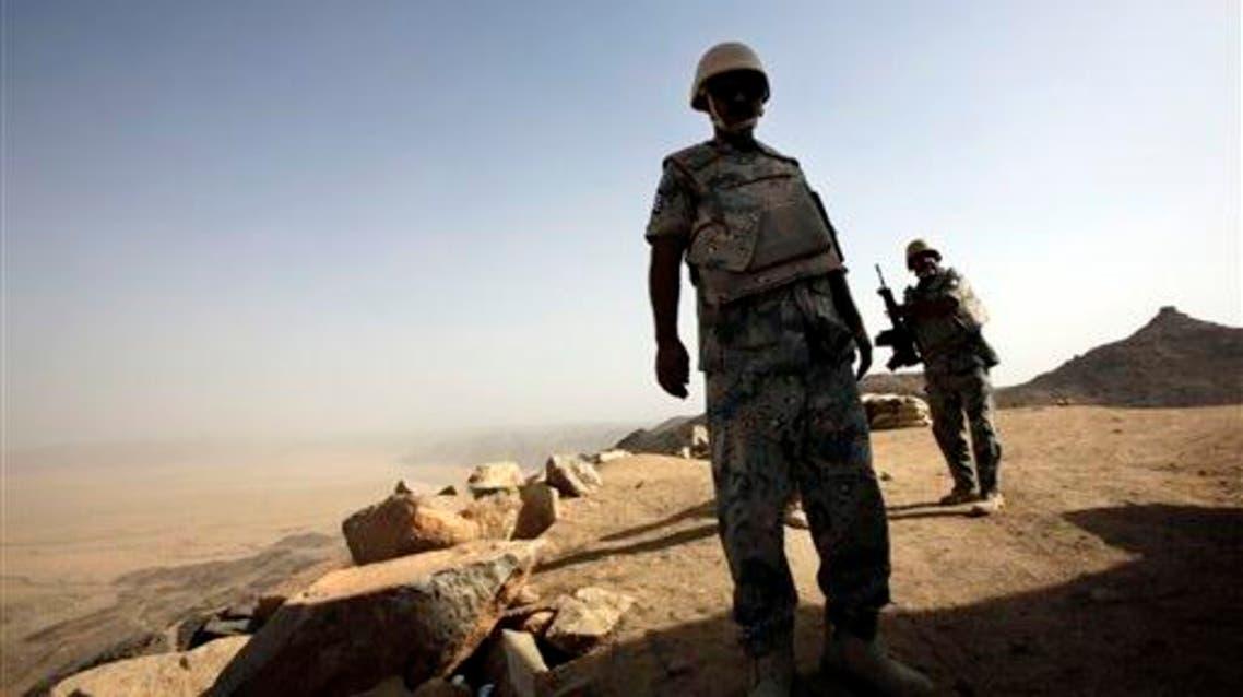 Saudi soldiers stand alert at the border with Yemen in Najran, Saudi Arabia. (File: AP)