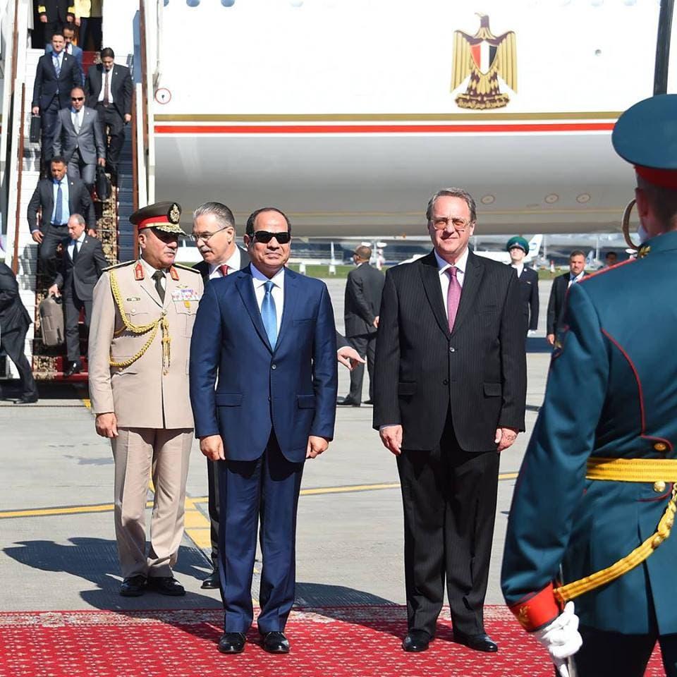 مراسم الاستقبال الرسمية للرئيس عبد الفتاح السيسي فور وصوله إلي موسكو