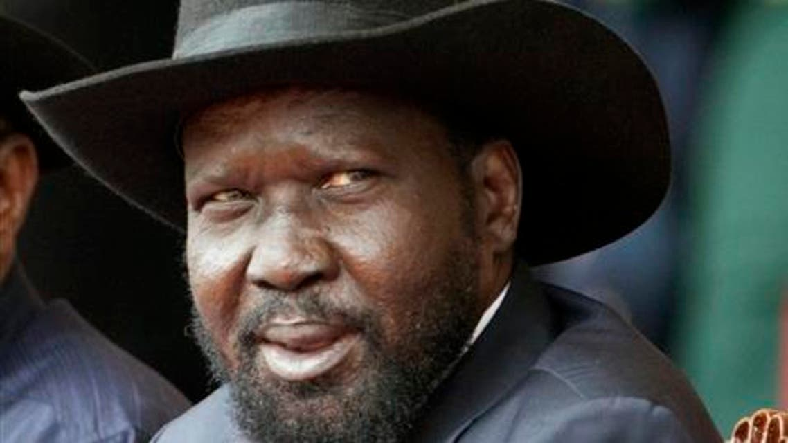 In this Thursday, Dec. 12, 2013 file photo, South Sudan's President Salva Kiir, attends Keny's 50th Independence anniversary, in Nairobi, Kenya. Lawmakers in South Sudan have voted to extend the tenure of President Salva Kiir by three more years. The proposal to extend Kiir's term, which was set to expire in July, had been endorsed by Kiir's Cabinet, which then forwarded the measure for approval in parliament.. (AP Photo/Sayyid Azim-File)