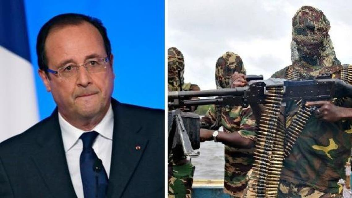 French President Francois Hollande On Tuesday offered to organize an international meeting on tackling jihadist group Boko Haram. (AFP/ Reuters)