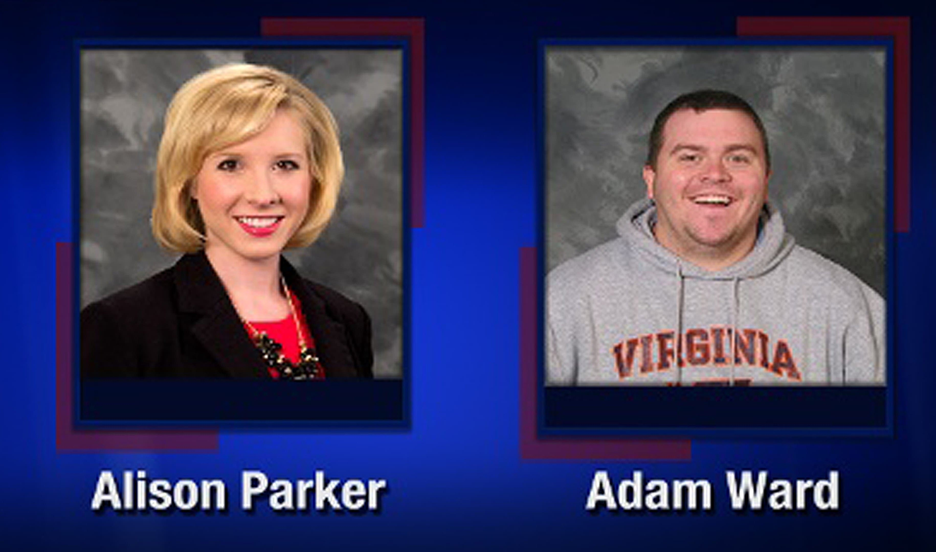 This TV video frame grab courtesy of WDBJ7-TV in Roanoke, Virginia shows two WDBJ7 employees killed in an attack at Bridgewater Plaza in Moneta, Virginia. (AFP)