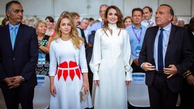 الملكة رانيا من باريس: الشباب العربي متعطش للنجاح