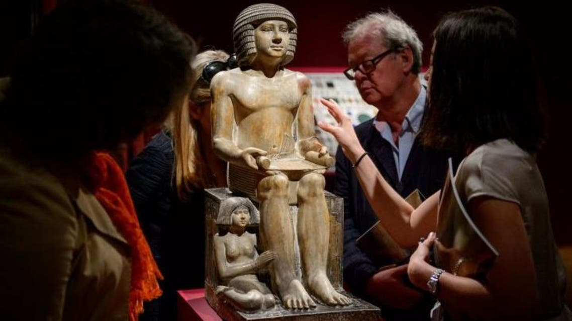 """""""It is unique! There is no other such statue in the world,"""" Loe said describing Sekhemka. (File photo: AFP)"""