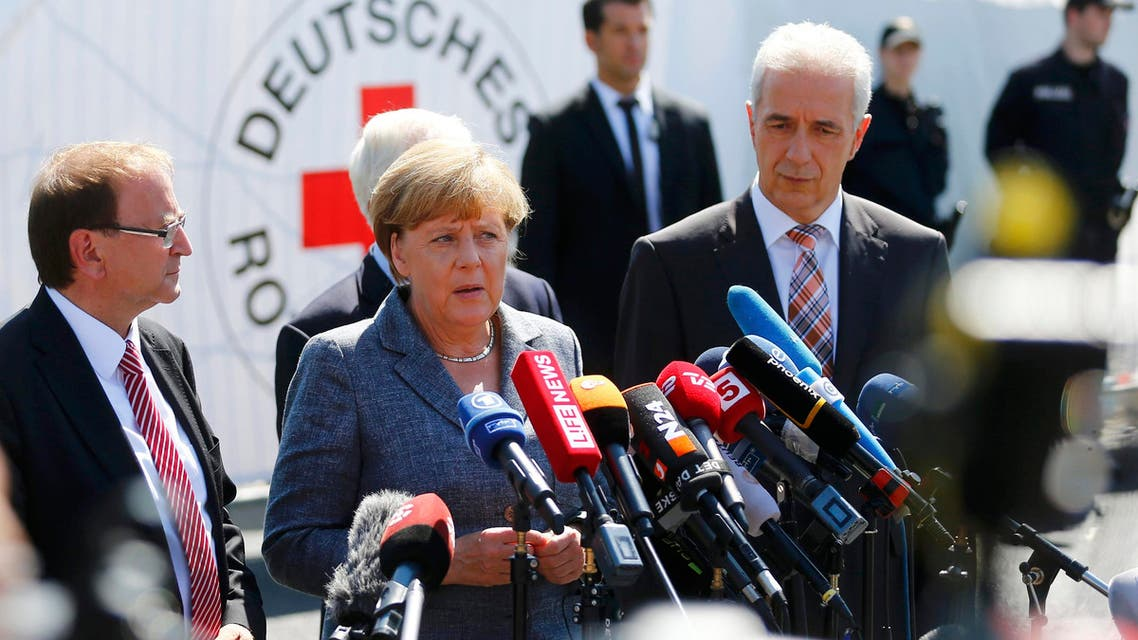 Asked about the insults levied at the German leader, Merkel's spokesman Steffen Seibert said the chancellor did not plan to press charges. (Reuters)