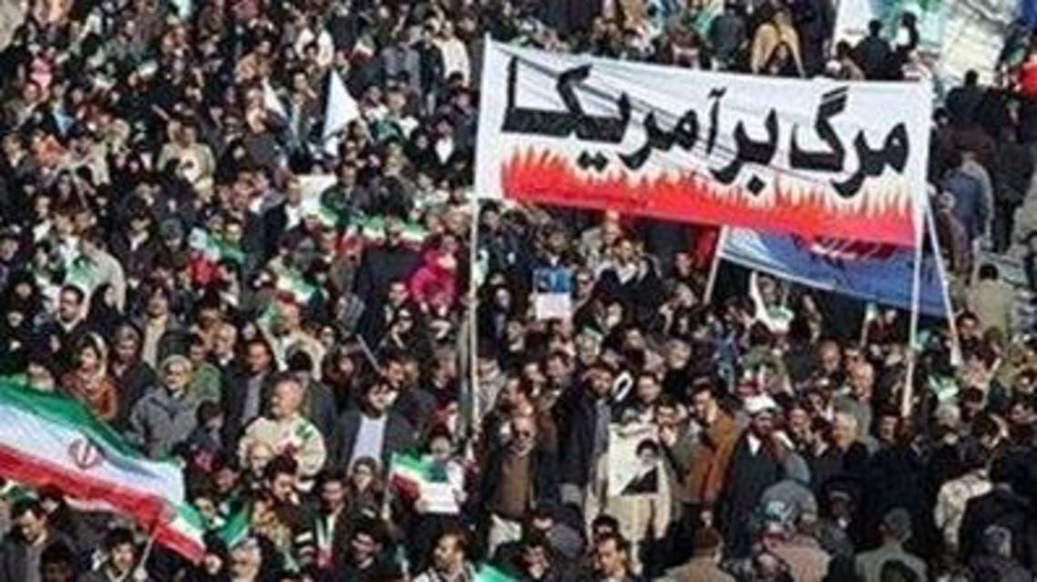 """شعارات """"الموت لأمريكا"""" في ايران"""