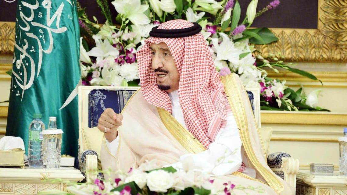 The Custodian of the Two Holy Mosques King Salman bin Abdulaziz Al Saud received at Al-Salam palace in Jeddah on Thursday a number of princes, Ulemas, ministers, senior civil and military officers and a group of citizens who came to greet and congratulate him on the holy month of Ramadan. SPA -