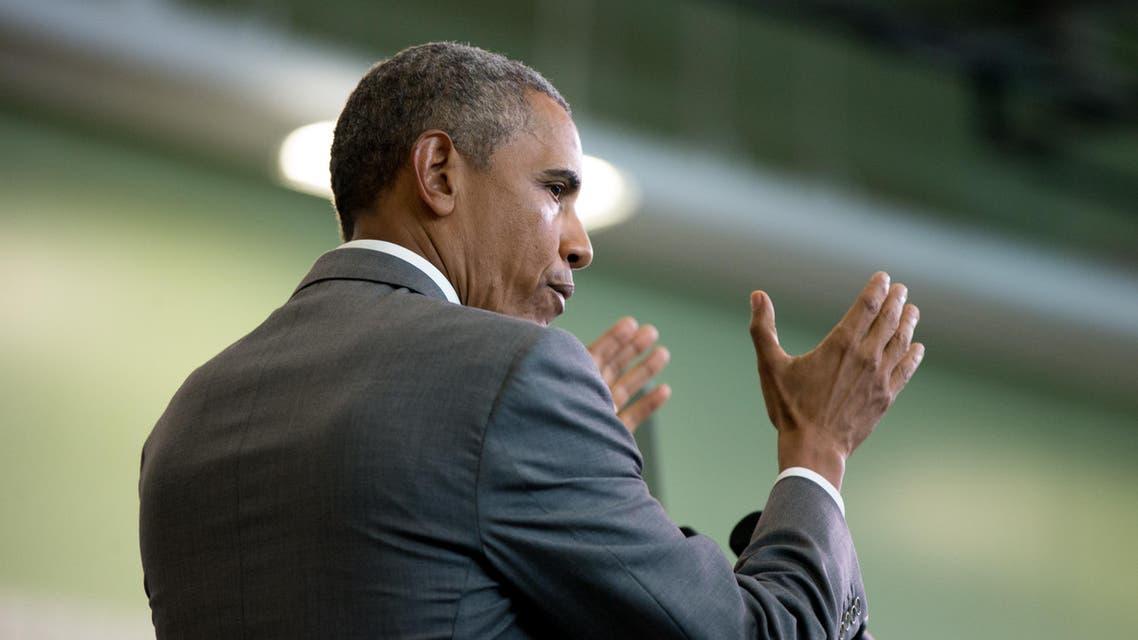 President Barack Obama delivers remarks at Andrew P. Sanchez Community Center in New Orleans, Thursday, Aug. 27, 2015 AP