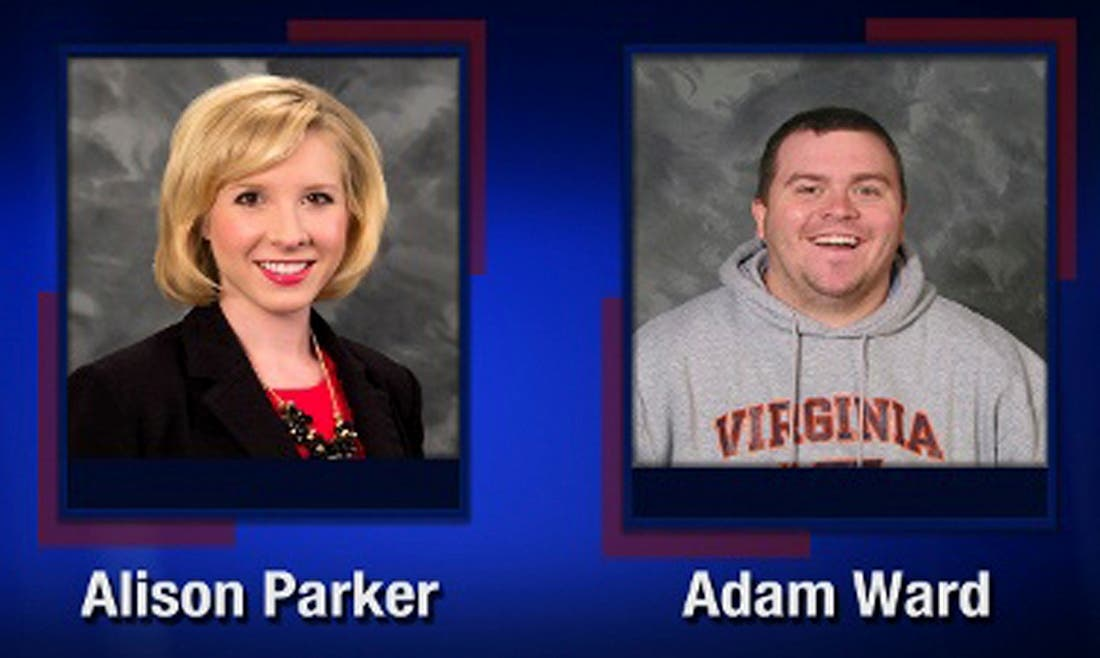 Alison Parker and Adam Ward are pictured in this handout photo from TV station WDBJ7 obtained by Reuters August 26, 2015. reuters