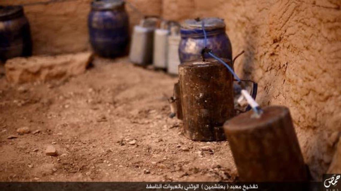 صور نشرها داعش حول تدمير معبد بعل شمين في تدمر