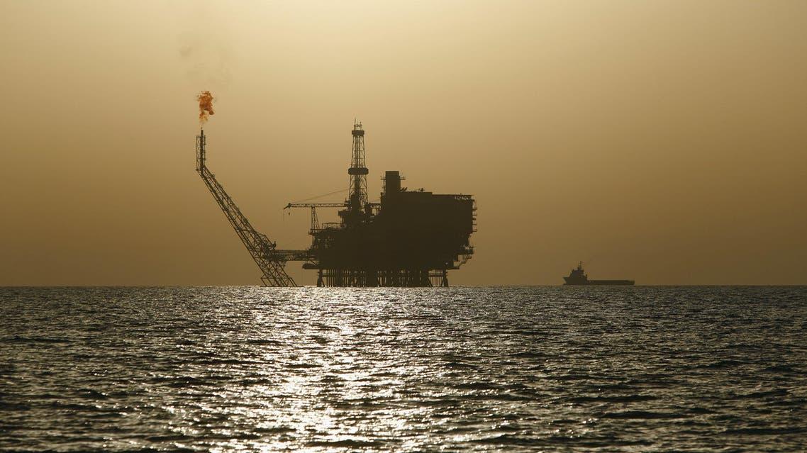 منصة نفط بحرية في حقل البوري ليبيا نفط ليبيا برنت الخام الاميركي