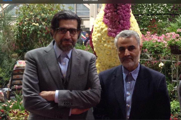 خرازي مع قائد فيلق القدس الإيراني قاسم سليماني