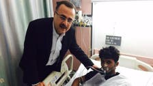 Saudi Aramco chief visits injured after deadly fire