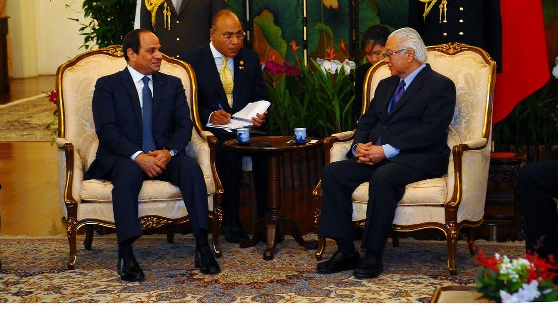 رئيس سنغافورة ورئيس مصر السيسي
