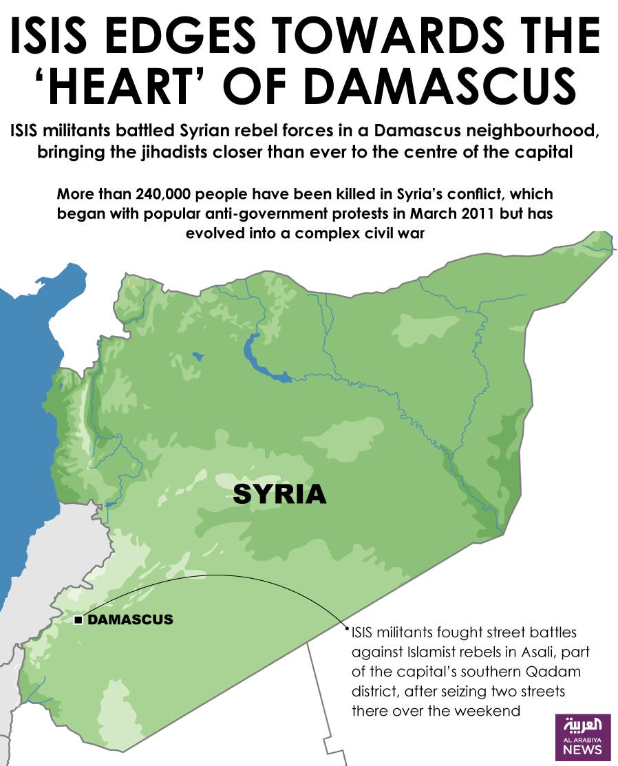 Infographic: ISIS edges towards the 'heart' of Damascus