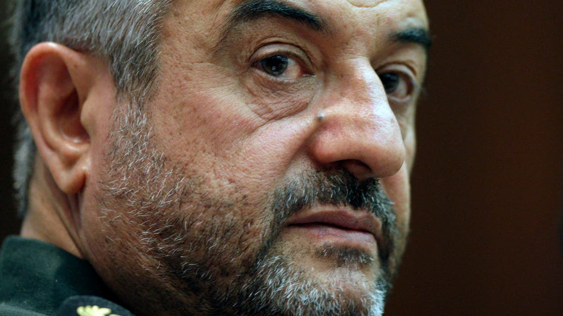 "In this Sept. 16, 2012 file photo, Commander of Iran's Revolutionary Guard Gen. Mohammad Ali Jafari gives a press conference in Tehran, Iran. Jafari said Tuesday, Sept. 1, 2015 that the U.S. is still the ""Great Satan,"" regardless of the nuclear deal struck with Americans and world powers over the Islamic Republic's contested nuclear program. The comments by Jafari, reported by the official Guard website, said that ""the enmity against Iranian nation by the U.S. has not lessened and it has been increased."" (AP Photo/Vahid Salemi, File)"