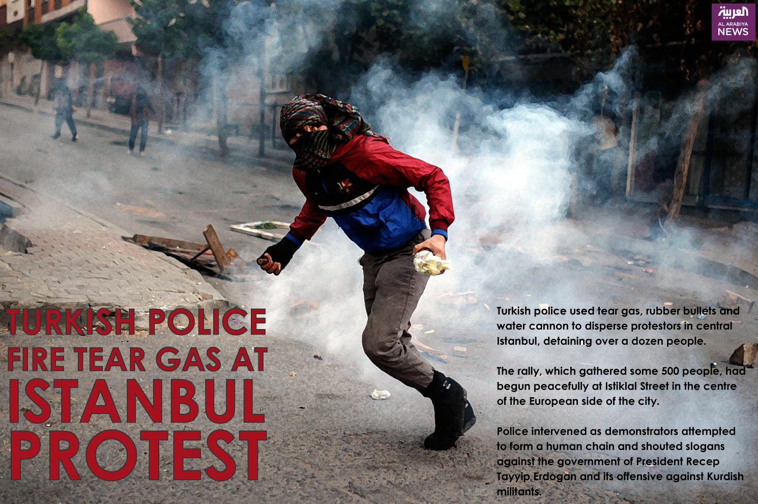 Infographic: Turkish police fire tear gas at Istanbul protest