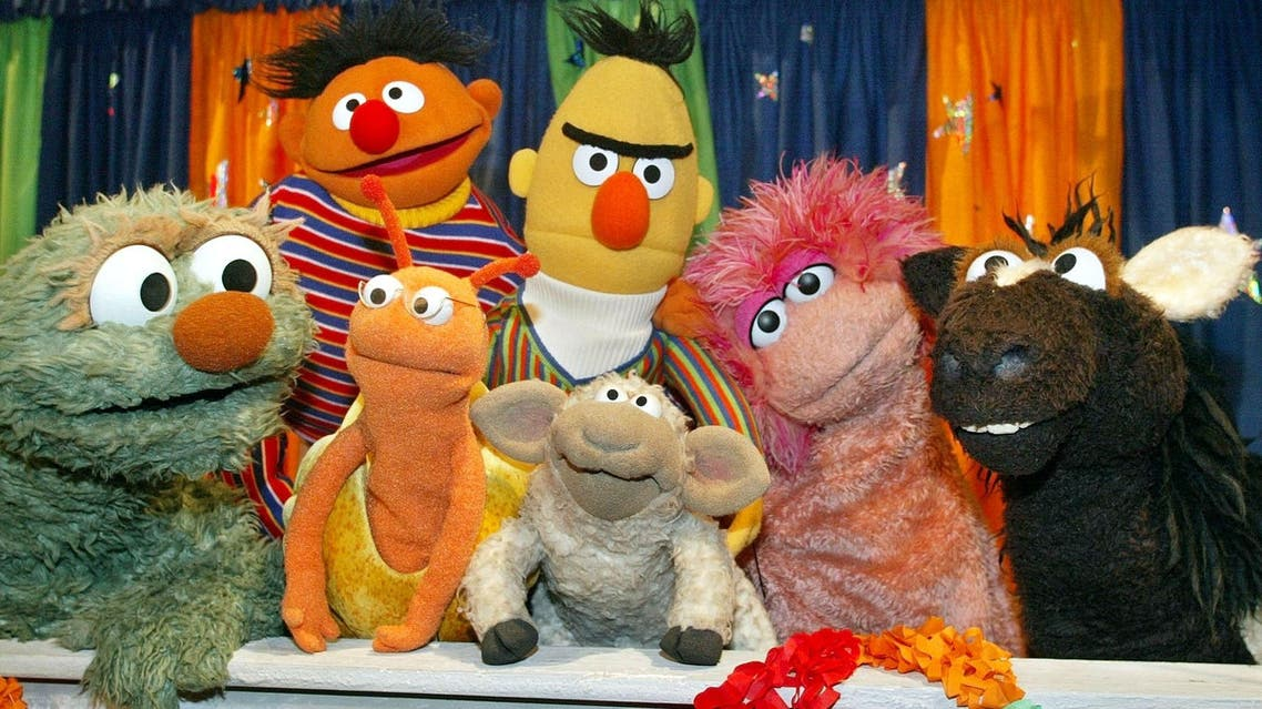 Puppets of the Sesame Street television show AP
