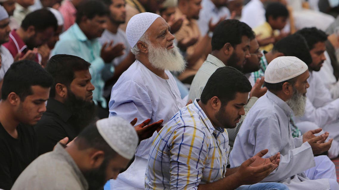 Indian Muslims offer special prayers to Yakub Abdul Razak Memon, after their daily late afternoon prayers in the old city of Hyderabad, India, Thursday, July 30, 2015. Memon, 53, an Indian accountant and the only person sentenced to death for his role in the 1993 Mumbai bombings that killed 257 people — the country's worst terrorist attack — was hanged Thursday on his birthday, after the president rejected a last-minute mercy plea amid a debate over the capital punishment. (AP Photo/Mahesh Kumar A.)