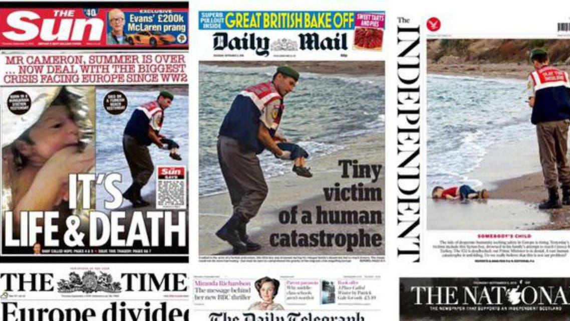 British headlines on Aylan