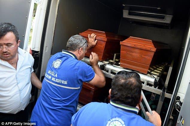جثامين الأم والطفلين