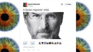 توییتی که یادآور میشود بنیانگذار «اپل» نیز همتبار كودک غرق شده سوری است