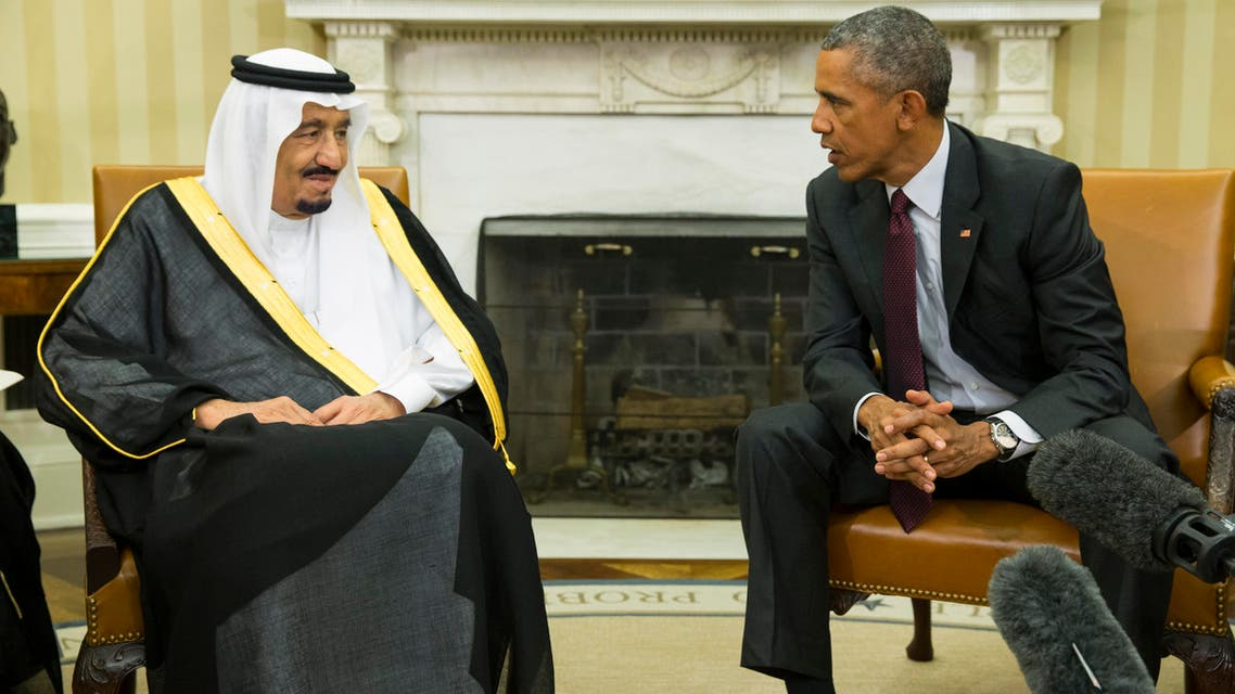 President Barack Obama, right, meets with King Salman of Saudi Arabia in the Oval Office of the White House, on Friday, Sept. 4, 2015, in Washington. AP