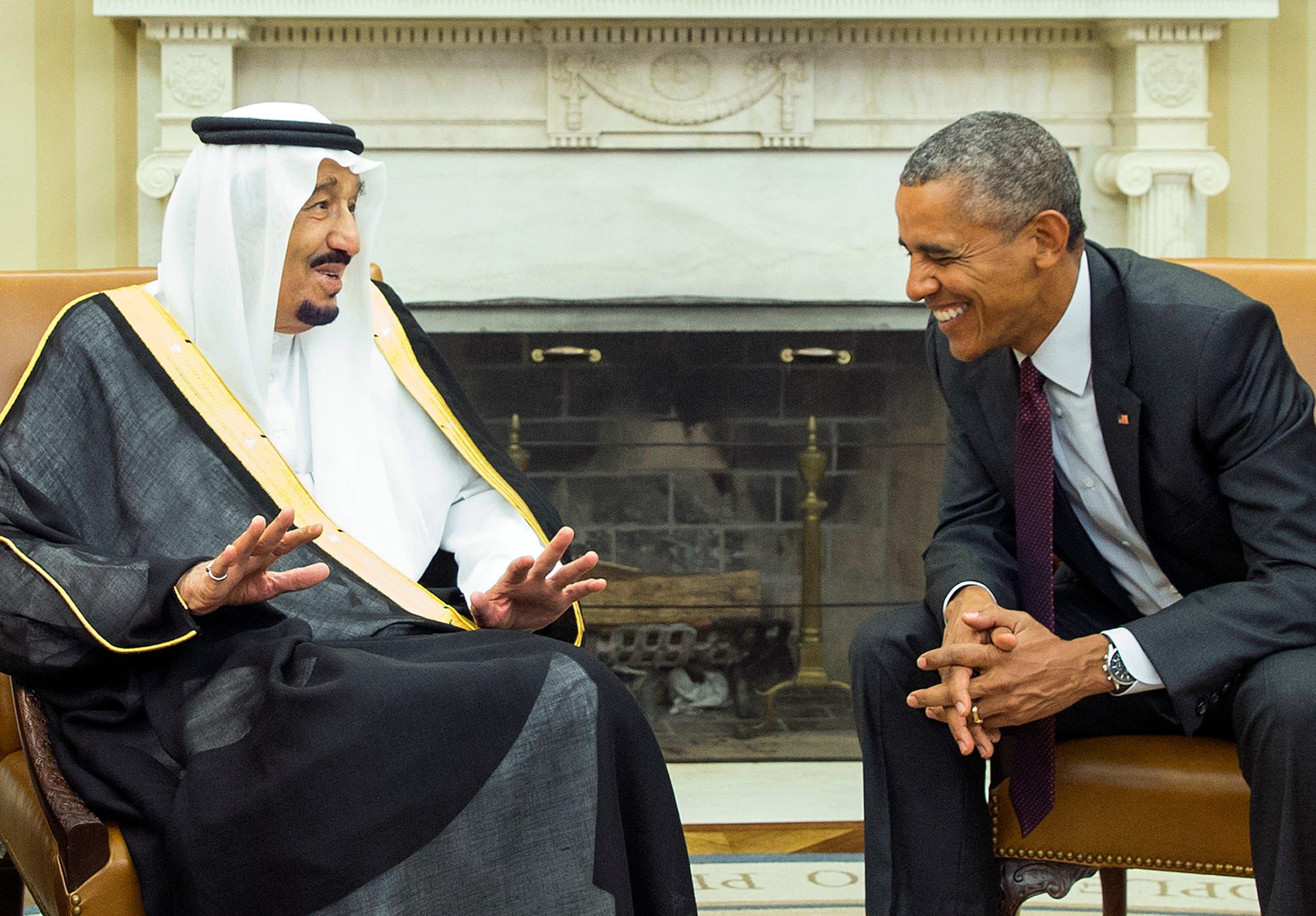 الزعيمان خلال القمة السعودية الأميركية