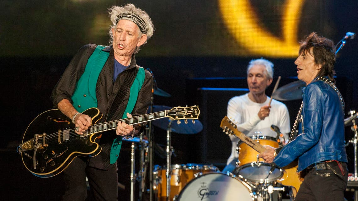 Keith Richards, Charlie Watts and Ronnie Wood of the Rolling Stones seen at the Le Festival d'ete de Quebec, 2015. (File photo: AP)