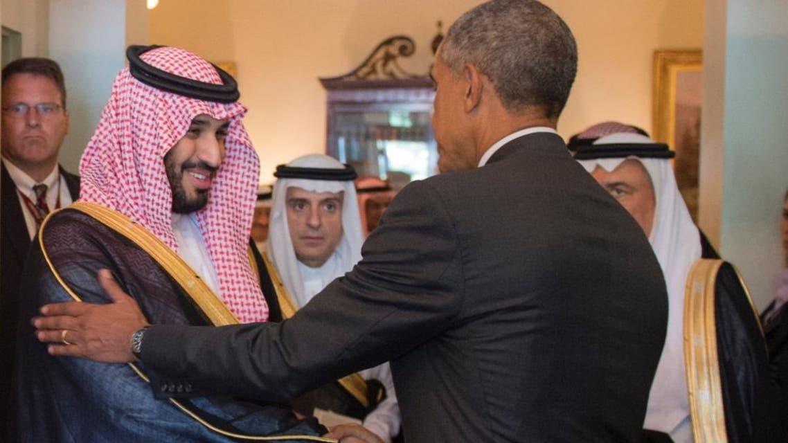 Saudi Arabia's Deputy Crown Prince Mohammad bin Salman seen shaking hands with U.S. President Barack Obama during the recent Washington visit