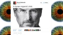 Tweet over 'Syrian migrant child' Steve Jobs goes viral