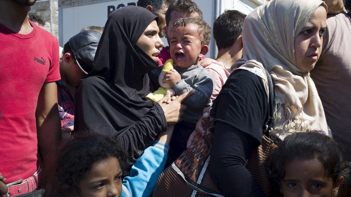 لاجئين مهاجرين في اليونان