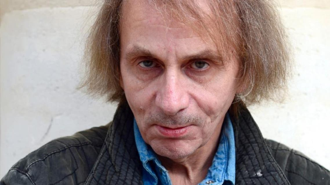 """French writer Michel Houellebecq, pictured on November 5, 2014, talked to Britain's Guardian newspaper about his new book """"Submission""""."""
