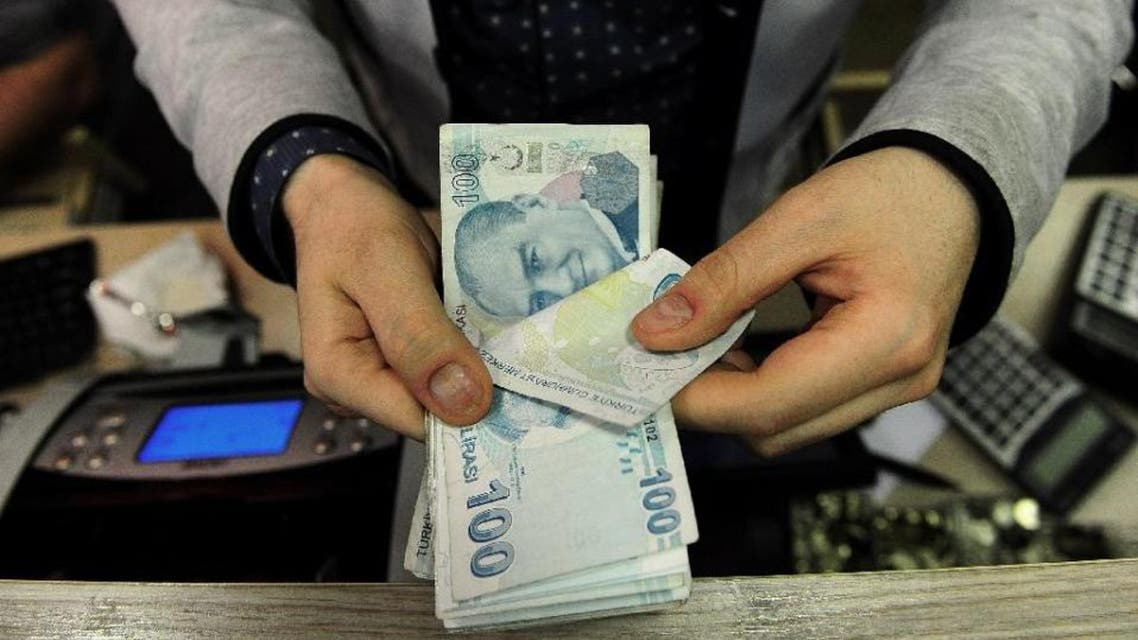 The Turkish lira lost 1.31 percent in value Tuesday to trade at 2.906 to the dollar, the first time it has broken through the psychologically important 2.9 barrier (AFP)