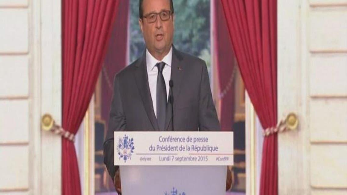 THUMBNAIL_ الرئيس الفرنسي يأمر بطلعات استطلاع فوق سوريا