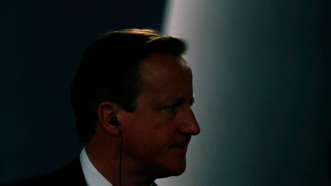 Britain's Prime Minister David Cameron listens to a question during a joint news conference with his Spanish counterpart Mariano Rajoy after their meeting at the Moncloa Palace in Madrid, Spain, Friday, Sept. 4, 2015. Cameron was on Spain for an official visit after meeting his Portuguese counterpart Pedro Passos Coelho in Lisbon on Friday morning. (AP Photo/Francisco Seco)